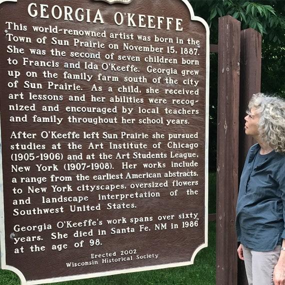 Visiting Sun Prairie, O'Keeffe's birth place
