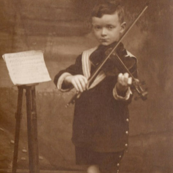 My father at four years old, in Poland